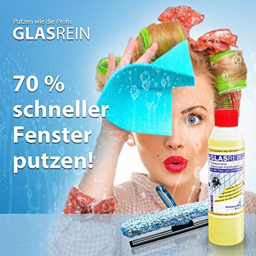 Profi-Glasreiniger Konzentrat, 250 ml | Fensterreiniger mit lotus-ähnlichem Effekt | für Glatt und Glasflächen | Tierversuchsfrei und umweltfreundlich - 5