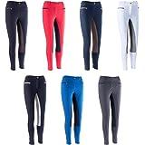 HKM by Reiterladen24, pantalón de equitación para damas con refuerzo completo Basicline