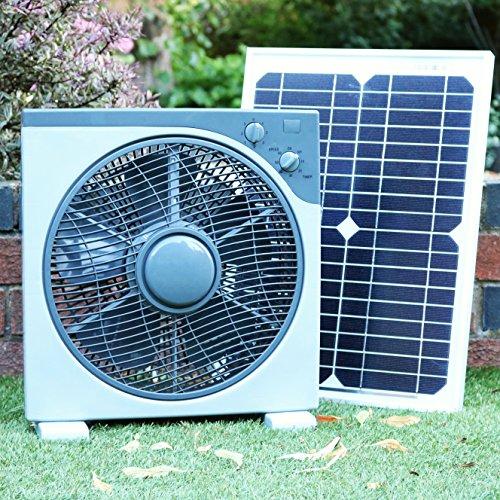 PK Green Solarlüfter 12V 20W | Solar Ventilator für Camping, Wohnmobil, Auto, Boot, Gewächshaus,...
