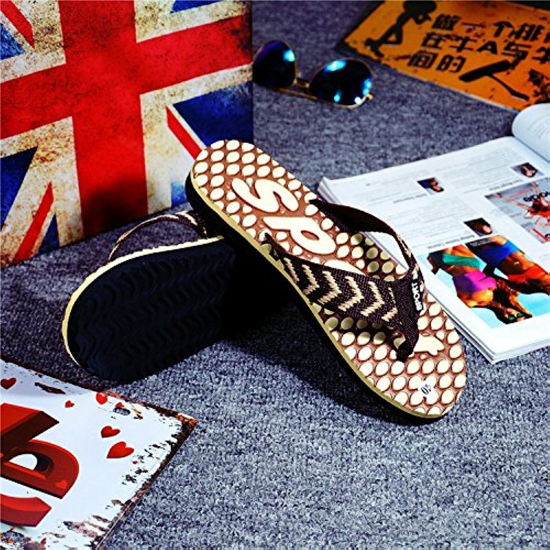 BAOZIV587 Zapatillas de Espuma Antideslizante para Hogar al aire libre, Zapatillas de Espuma, Azul Chico, Simple