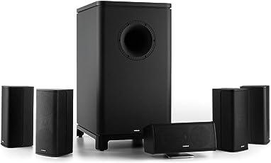 Numan Ambience 5.1-Surround-Sound-System Heimkinosystem Stereo Lautsprechersystem Aktiv-Mono-Subwoofer Satellitenlautsprecher Front-Numan-Bassreflexport Max. 120 Watt schwarz
