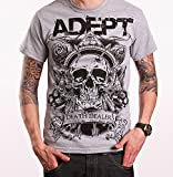 Adept Skull Grey - T-Shirt-Medium