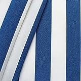 STOFFKONTOR Markisenstoff Outdoorstoff Streifen Breite 160cm Meterware Blau-Weiss
