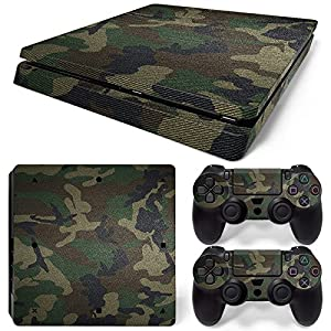 Sony PS4 Playstation 4 Slim Skin Design Foils Aufkleber Schutzfolie Set – Camouflage 3 Motiv
