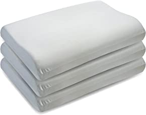 The White Willow Contour Cervical Orthopedic Memory Foam Pillow- White