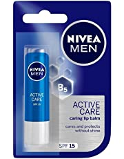 NIVEA MEN Lip Care, Active Care Lip Balm, SPF 15, 4.8g