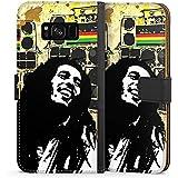 Samsung Galaxy S8 Plus Tasche Leder Flip Case Hülle Bob Marley Reggae Jamaika
