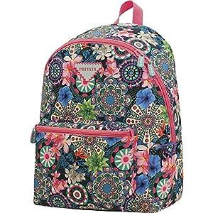 Mochila-Teen-Escolar-Privata-Floral