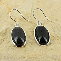 D? Ohrringe Oval längliche Naturstein und Silber 925–Obsidian preisvergleich bei billige-tabletten.eu