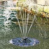 Beyonda FMYM250 Fuente de la bomba de agua de la energía solar, agua que flota el kit de la bomba de la fuente para el baño del pájaro, el tanque de pescados, la pequeña charca, la decoración del jardín y del patio