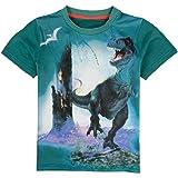 Coralup Camiseta de dinosaurio para niñas de 12 meses-7 años