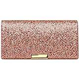 CASPAR TA342 Bolso de Mano Fiesta para Mujer/Clutch Elegante Brillo, Tamaño:Talla Única, Color:rosa