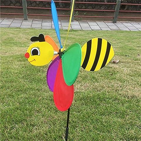 Dairyshop Delight Eshop Cute 3d Bee Grande Animalwindmill à vent Musique Yard Décor de jardin abeille
