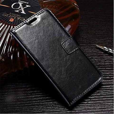 Mylboo® Pour l'étui de téléphone portable Lenovo B, modèle de cheval fou, modèles de portefeuille, étui de téléphone mobile, la nouvelle coque de téléphone, PU + TPU avec fonction de sommeil, protection complète de votre téléphone Lenovo B (noir)