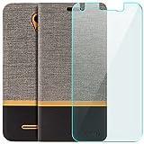 zanasta Tasche + Displayschutz kompatibel mit ZTE Blade L110   Hülle Flip Case Schutzhülle Handytasche mit Kartenfach Grau