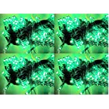 ASCENSION Set Of 4 Rice Lights Serial Bulbs Decoration Lighting For Diwali Christmas (GREEN)
