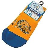 Flipper Swimsafe 1051 - Aquasocken mit Anti-Rutsch-Sohle in Blau-Orange, für Kinder und Kleinkinder, Größe 19 -22, ideal für