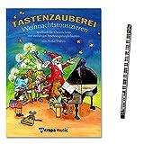 Tastenzauberei Weihnachtsmusizieren + Piano-Bleistift + Spielbuch für Klavierschüler von Aniko Drabon mit vielfätigen Besetzungsmöglichkeiten - der zauberhafter Einstieg ins Klavierspiel! [ Musiknoten ]