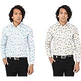 Maharaja Combo of 2 Slim Fit Poly Cotton Shirts [7 Varients]