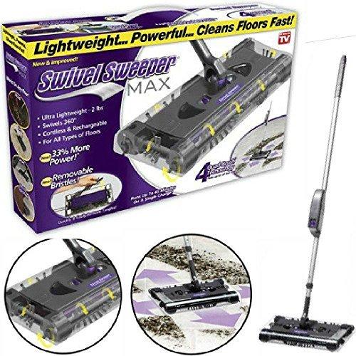 Scopa ruotante max - swivel sweeper max la tua nuova scopa elettrica rotante elettrica senza fili senza sacchetto!