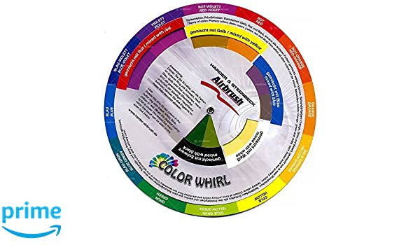 Color Whirl Farbmischtabelle 18cm Farbenlehre 260330: Amazon.de ...