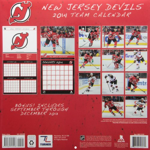 New Jersey Devils Team 2014 Calendar