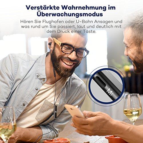 Noise Cancelling Kopfhörer TaoTronics In Ear Ohrhörer mit Rauschunterdrückung verstärkter Wahrnehmung Überwachungsmodus, ANC MEMS Mikrofon und erstklassisches Aluminium in mattschwarzer Ausführung - 4