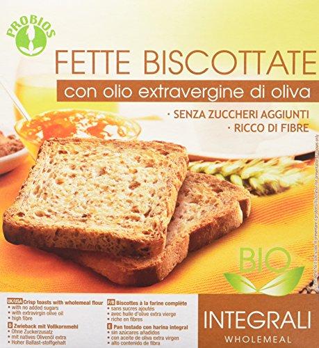 Probios fette biscottate integrali bio - con olio extravergine di oliva [confezione da 4 x 270 g]