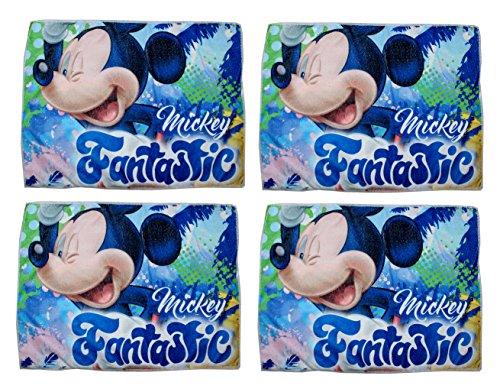 Lot de 4 gants de toilette Mickey Disney 40 x 31 cm