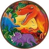 Amscan Assiettes de fête dinosaures de 22.8cm