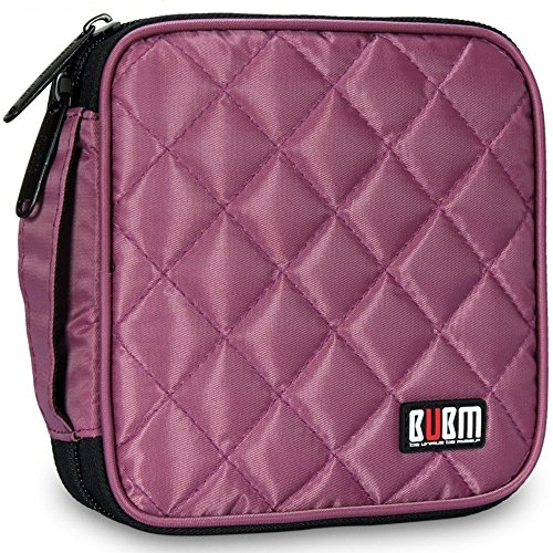 32 Kapazität CD / DVD-Tasche, 230D Space Twill Cover - Violett