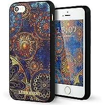 iPhone 5 Funda,iPhone 5s Funda,iPhone SE Funda,Lizimandu 3D Patrón Protectiva Carcasa de Silicona Gel TPU estrecha Case Cover Para Apple iPhone 5/5s/se(Flor Azul/Blue Flower)