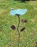 Vogeltränke Vogelbad Vogelbecken Wassertränke Tränke Wasserschale Stecker Braun/Blau Rost