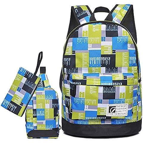 YWZQ Gli studenti della scuola secondaria nella scuola media e alta scuola gli studenti Schoolbags Schoolbags studenti zaino pacchetto per il tempo libero