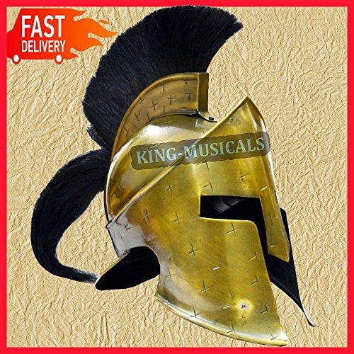 Nasir Ali 300 Movie Griechischer Spartan Sparta King Leonidas Helm mit gratis Holzhelmständer