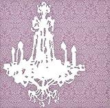 Lampadario arte in tela, colore: rosa