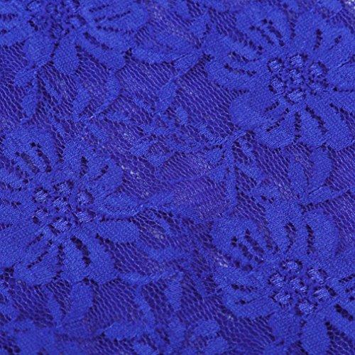Donna T-shirt - Camicetta - Camicia - feiXIANG Donne Manicotto a tre quarti Solido Taglia grossa Casuale Camicetta sciolto Top Maglietta - poliestere Blu