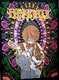 Indian Craft Château ICC Jimi Hendrix Guitare Poster 30x 40Décoration Jimmy Hendrix Rock Classique Legend Musique psychédélique de bohème Hippie Tapisserie (Hendrix) Violet Poster 30x40 inches Noir