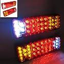 CarJoy 950755 2 x 12V 31 LED Universal Set Hinter Rückleuchten Rückfahrlicht Heckleuchten Stop Anzeige LKW PKW Anhänger