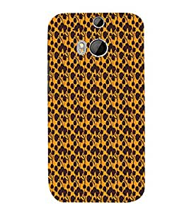 Abstract Floral 3D Hard Polycarbonate Designer Back Case Cover for HTC One M8 :: HTC M8 :: HTC One M 8