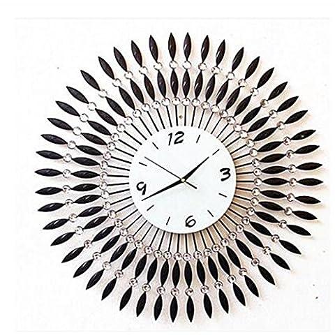 reloj de la vendimia americana, antigüedad forjado dormitorio hierro, de estilo europeo reloj de pared del jardín de silencio creativo decorativo sala de estar, mesa de reloj de