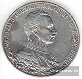 Deutsches Reich Jägernr: 112 1913 A sehr schön Silber 1913 3 Mark Preussen Wilhelm II. Regieru (Münzen für Sammler)
