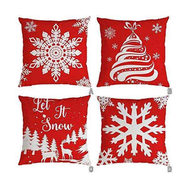 IJKLMNOP Christmas Pillow Square Pillow Case Lino Mat 45x45cm es Adecuado para oficinas, Casas, automóviles, cafeterías… 17