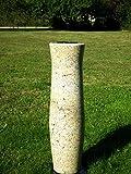 designgrab XXL Grabvase 75 cm hoch aus Granit Millenium cream Friedhofsvase Grabschmuck