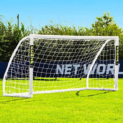 Net World Sports Forza Match - 2,4 x 1,2 m wetterfestes Fußballtor Abnehmbarer Torwand bestellbar (Forza Match 2.4x1.2m)