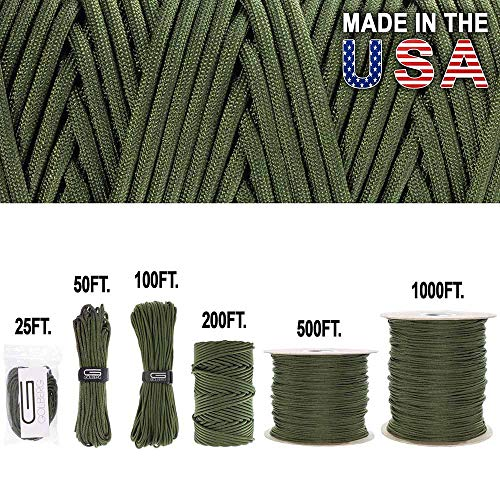 Golberg Bar Straps Paracord/Fallschirmleine -, Military Grade - authentische Mil-Spec Type IV 750 LB Zugfestigkeit Starke Paracord - mil-c-5040-h - 100% Nylon - Made in USA -