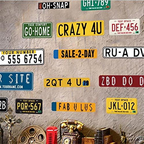 Weaeo Fake Metalldose Zeichen Plaque Auto Nummernschild Wand Aufkleber Achtung Poster Rauchen Schuß Home Restaurant Bar Cafe Fenster Einrichtung