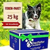 Frostfutter Ferienpaket 25 Kg incl. tiefgekühlter Barf-Artikel für Hunde bestehend aus Huhn-Rind-Mix, Grüner Pansen, Blättermagen, Rindfleisch-Mix (Gulasch), Pansen-Euter-Mix, Rinderhalsfleisch (wie gewachsen) und vieles mehr