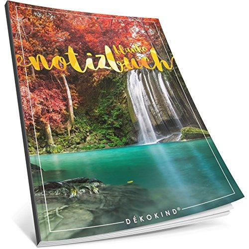 Dékokind® Blanko Notizbuch: Ca. A4-Format • 100 Seiten mit Inhaltsverzeichnis • Perfekt als Zeichenbuch, Skizzenbuch oder Tagebuch • ArtNr. 25 Garten Eden • Softcover