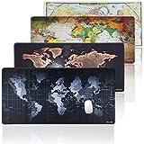 JIALONG Extended Gaming Mauspad XXL Mousepad Schreibtischunterlage Weltkarte Riesen 900x400mm Wasserdicht Desk Mat Rubber Base für Computer, PC und Laptop